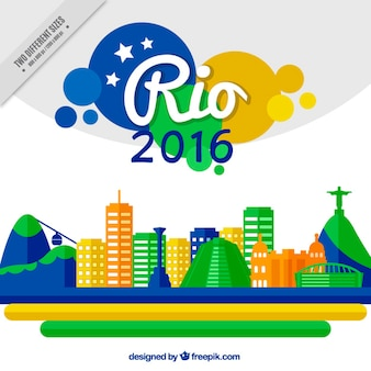 Brasil colorida no fundo design plano