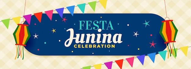 Brasil festa junina celebração banner