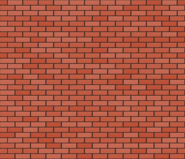Brickwall realista marrom vermelho. textura sem costura