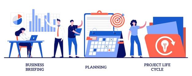 Briefing de negócios, planejamento, ciclo de vida de projetos. conjunto de gerenciamento de projetos, atribuição de tarefas