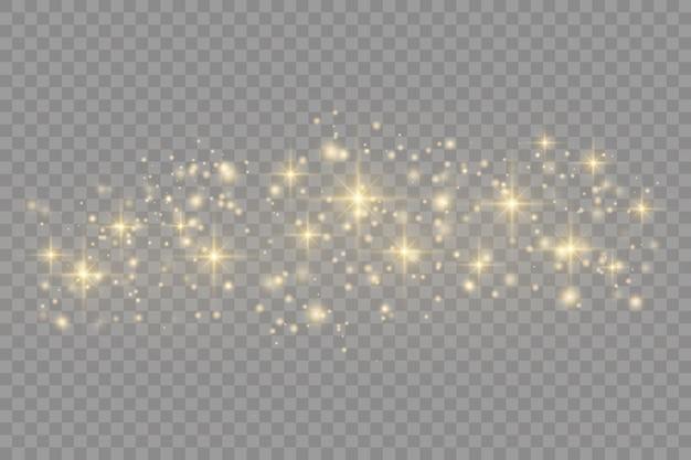 Brilha em um transparente. acende estrelas com uma luz especial.