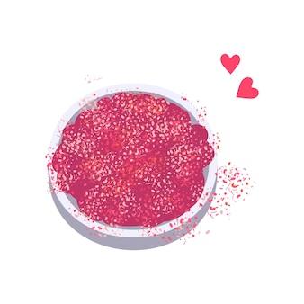 Brilha rosa brilhante para manicure