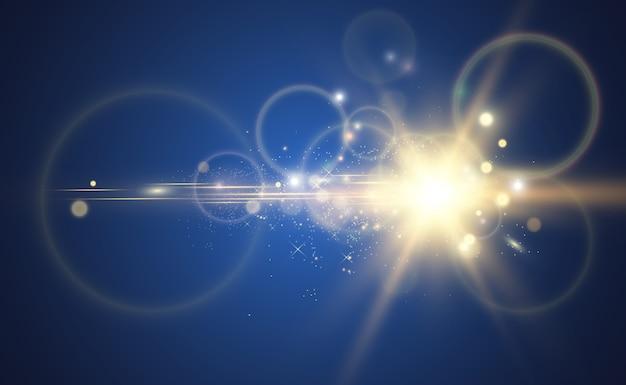 Brilhante bela estrela. ilustração em vetor de um efeito de luz.