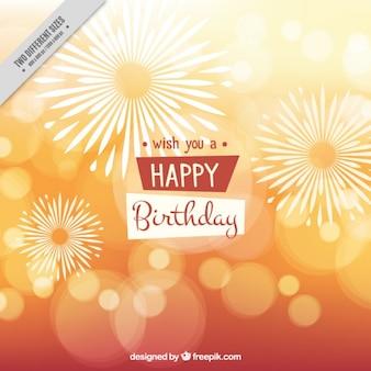 Brilhante bokeh feliz aniversário