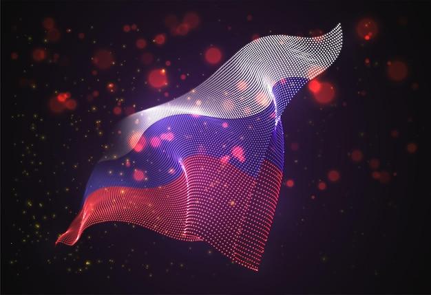 Brilhante brilhante bandeira do país da rússia