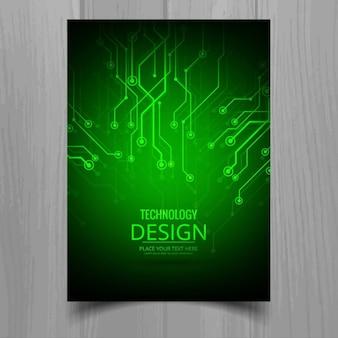 Brilhante brochura tecnologia verde