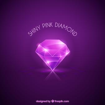 Brilhante diamante fundo roxo