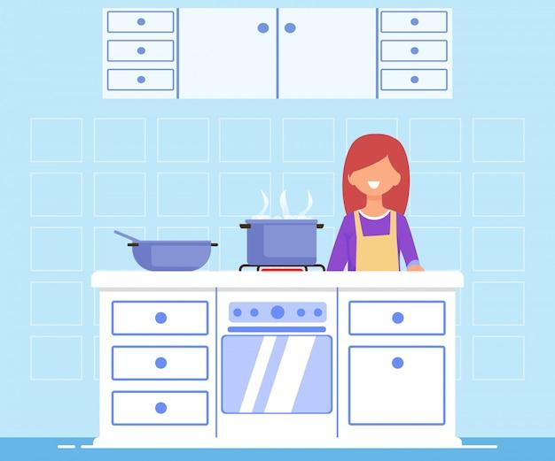Brilhante flyer aula de treinamento de cozinha, cartoon plana.