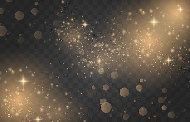Brilhar. efeito de luz de poeira. ilustração vetorial eps10