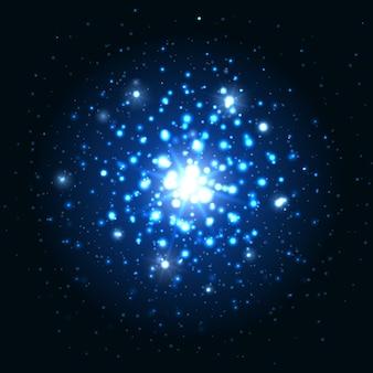 Brilho azul sparkes