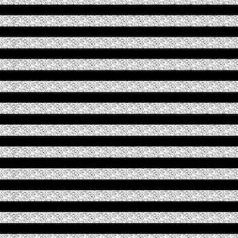 Brilho de faixa de prata sem costura e fundo de padrão preto