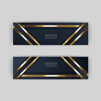 Brilho de luz com cor abstrata moderna tecnologia banner ouro
