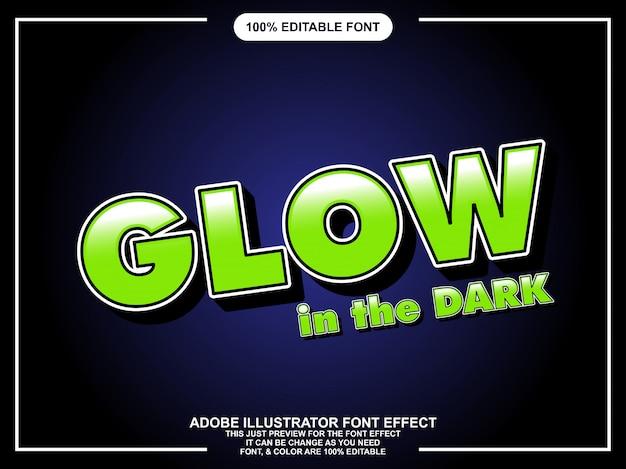 Brilho de negrito estilo gráfico editável no efeito de fonte escura