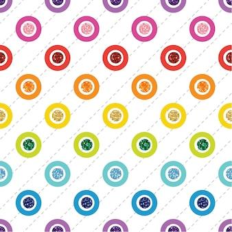 Brilho de ponto colorido do arco-íris sem emenda em fundo branco