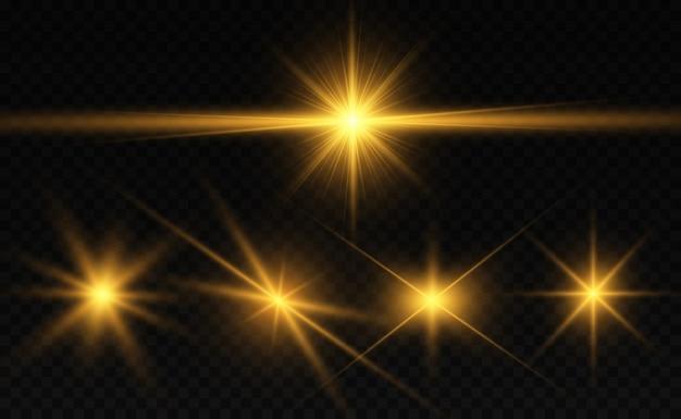Brilho de vetor de pó de ouro brilhante. ornamentos brilhantes brilhantes para segundo plano.