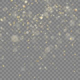 Brilho dourado de natal. fundo transparente apenas em