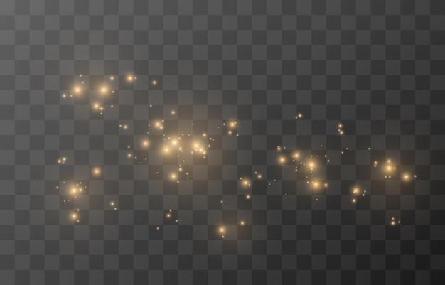 Brilho mágico do vetor. luz cintilante, brilho