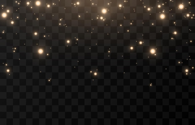 Brilho mágico do vetor. luz cintilante, pó cintilante png. pó de fada brilhante. luz do céu. luz de natal.