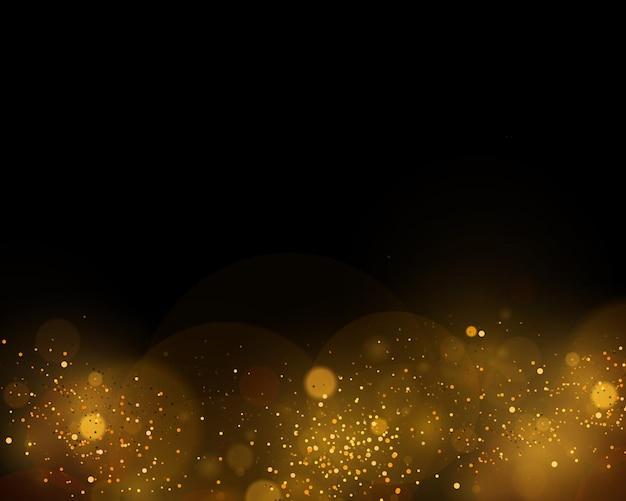 Brilho preto branco ou prata dourado para o natal efeito bokeh espumante de partículas de poeira mágicas