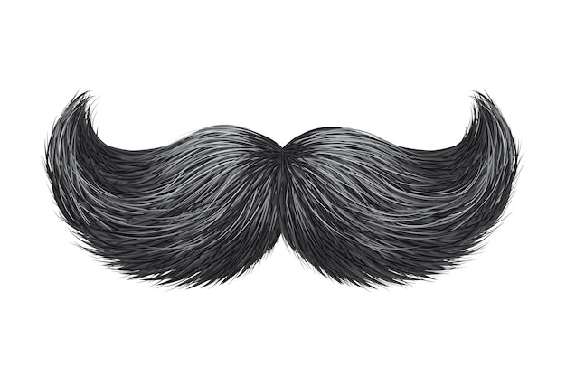 Brilho realista, esplendor vintage clássico retro ilustração bigode