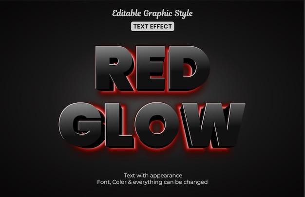 Brilho vermelho, efeito de texto editável