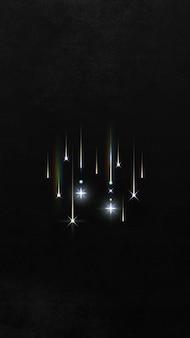 Brilhos dourados estampados em fundo preto
