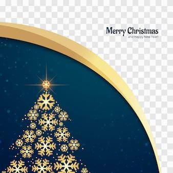 Brilhos lindos feliz natal árvore cartão projeto vector