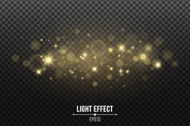 Brilhos mágicos de ouro para o natal isolado. estrelas douradas brilhantes e pó de natal mágico. brilhos e pontos brilhantes.