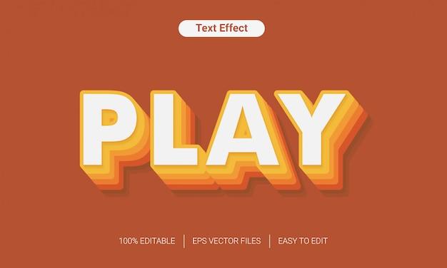 Brincar com efeito de estilo de texto 3d eps de cor de gradação de camada