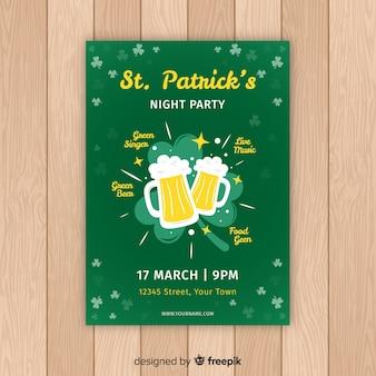 Brinde de cerveja cartaz de festa do st patrick