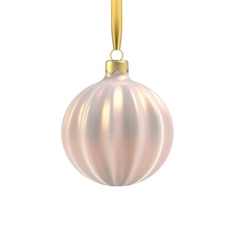 Brinquedo de árvore de natal de ouro realista em forma de espiral