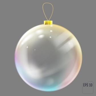 Brinquedo de árvore de natal transparente