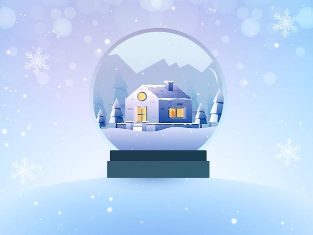 Brinquedo de fundo de inverno decorativo.
