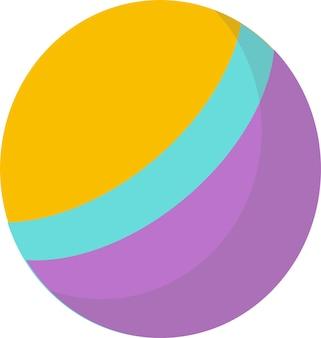 Brinquedo fofo para crianças, bola. desenvolvimento infantil. estilo cartoon plana, sobre um fundo branco.