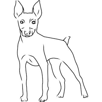 Brinquedo fox terrier. mão desenhada à mão clipart vetorial