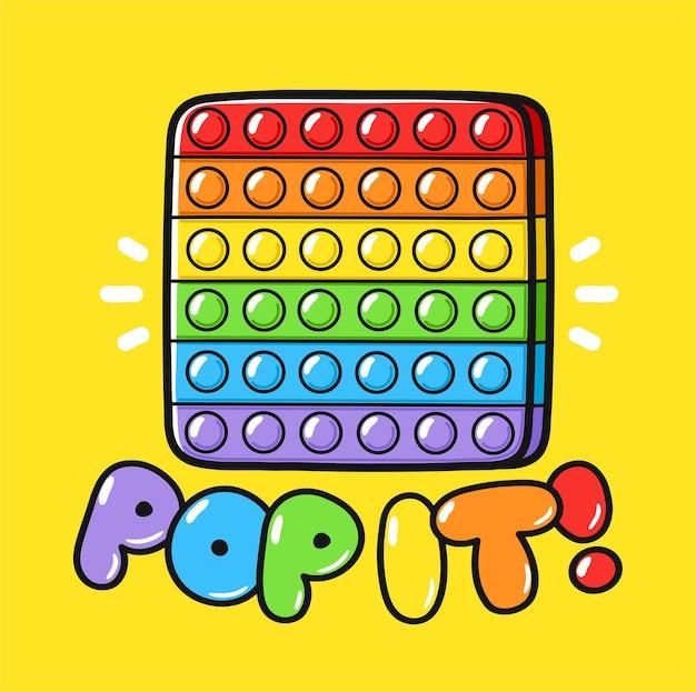 Brinquedo sensorial fofo engraçado pop it fidget
