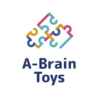 Brinquedos cerebrais para inspiração de logotipo infantil