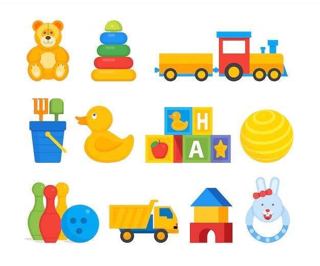Brinquedos coloridos para crianças infantis