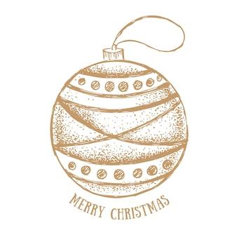 Brinquedos de natal cartão de felicitações ilustração desenhada à mão
