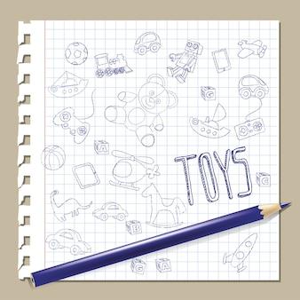 Brinquedos de rabisco