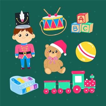 Brinquedos desejados pelas crianças desenhados à mão