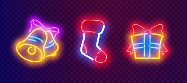 Brinquedos e decorações de natal os letreiros de néon coloridos tornam fácil e rápido personalizar seus projetos de férias.