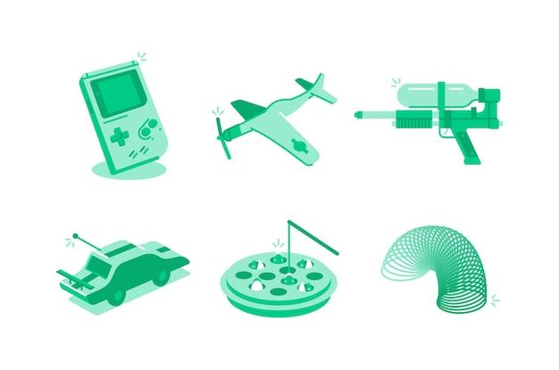 Brinquedos e jogos de ilustração
