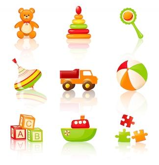 Brinquedos infantis coloridos.