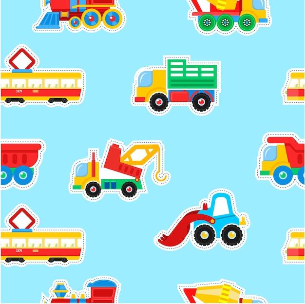 Brinquedos infantis sem costura padrão.