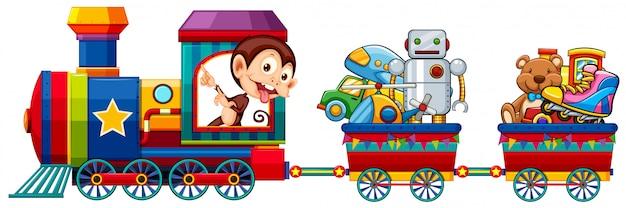 Brinquedos no trem