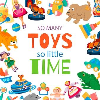 Brinquedos para o bebê jogar ilustração.