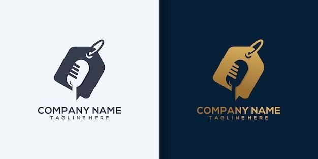 Broadcast shopping logo template design vector, podcast, studio logo vector