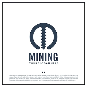 Broca de mineração, modelo de logotipo