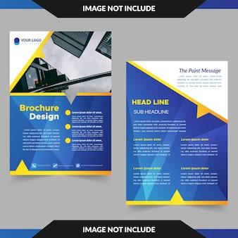 Brochura amarela e azul